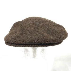 6c2a4bfe50f64 London Fog Accessories - Vintage Brown Wool Newsboy Cabbie Flat Cap Hat
